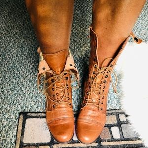 Steve Madden Reversible Leather Combat Boots